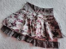 Květovaná khaki sukně vel.116/1863, 116