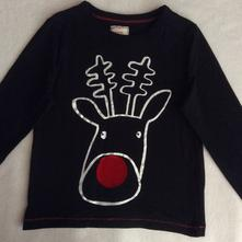 Vánoční tričko se sobem zn. george, 92