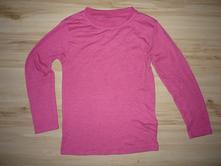Růžové triko dlouhý rukáv, 128