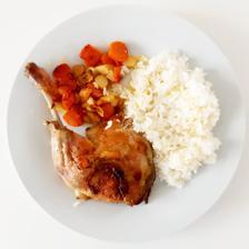 Kachní čtvrtky s pečenou kořenovou zeleninou a rýží