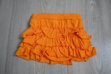 Oranžová bavlněná letní sukýnka s kanýry, h&m,92