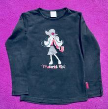 Černé dívčí tričko coccodrillo, vel. 7 let, coccodrillo,122