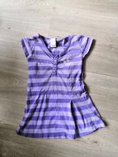 Fialové tričko s motýlem vel. 122, 122
