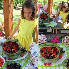 Kristýnka dnes slavila svůj svátek a já se ji pokusila udělat žábu z melunu plněnou ovocem :-)