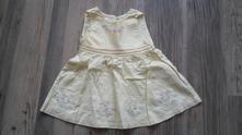 Žluté šaty, miniwear,80
