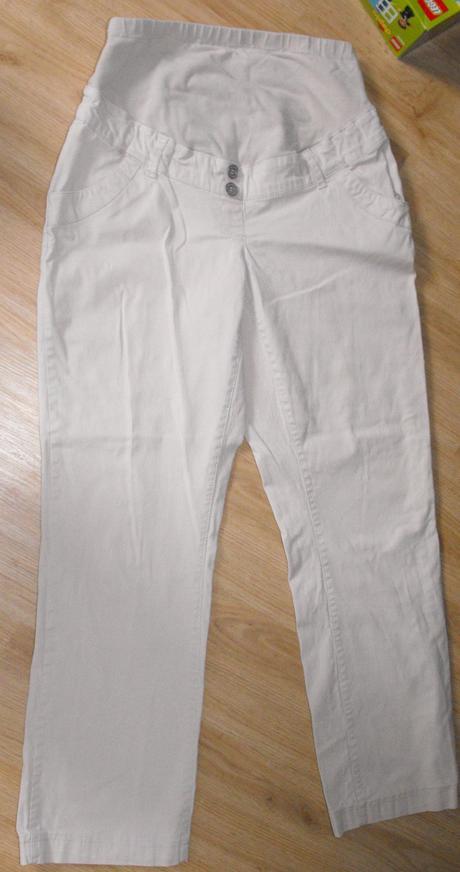 M221. tehotenské béžové kalhoty, 38