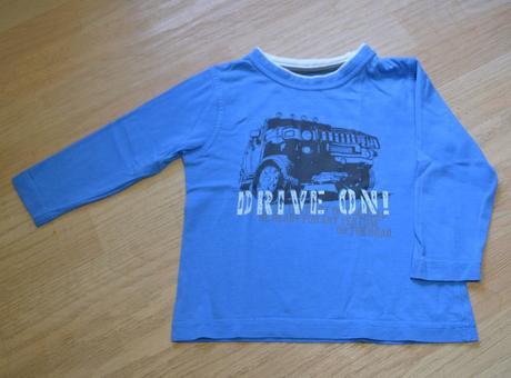Tričko s dl. modré s autem drive on, 98