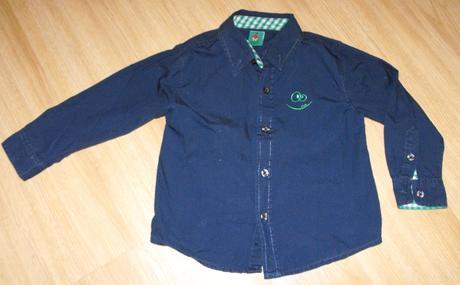 A162. tmavě modrá košile, kiki&koko,98