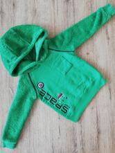 Zelená mikinka s kapucí, lupilu,86