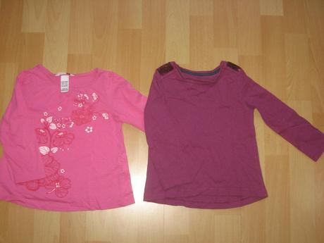 2x bavlněné tričko k sukýnce, h&m,98