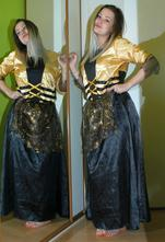 Karnevalový kostým šaty čarodějnice, 42