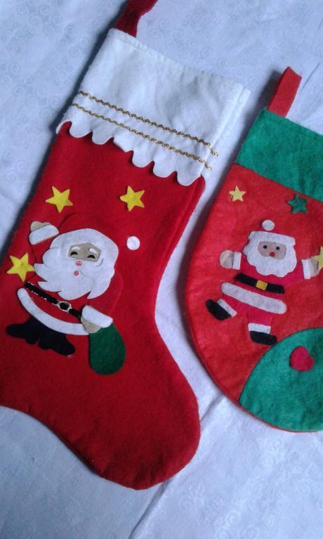 2 ks - mikulášská nadílková ponožka ,
