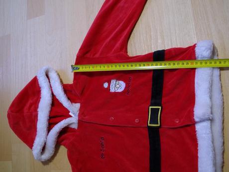 Kostým vánoční kabátek santa,