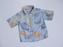P497 košile s papoušky vel. 74, matalan,74