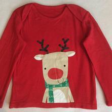 Bavlněné vánoční tričko zn. f&f, 92