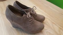 Semišové dámské botky na platformě, graceland,37
