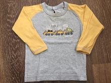 Bavlněné tričko - dlouhý rukáv, 80