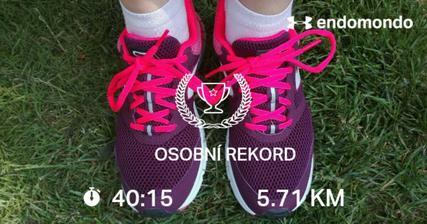 """Poprvé jsem vyběhla v nových botkách a hned mám novy rekord co se""""km"""" týče s časem je to o něco horší."""