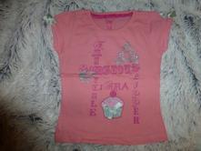 Lososové tričko s dortíkem 98/104, girl2girl,98