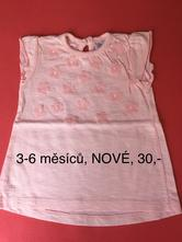 Nové tričko/šatičky 3-6 měsíců, f&f,62