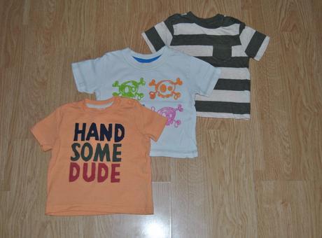 3x tričko s krátkým rukávem, f&f,62