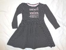 Nádherné černé šaty s bílým puntíkem, dopodopo,104