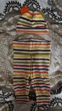 Pruhovaný komplet 62,set kalhot s širokým pas ham, h&m,62