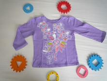 Fialové tričko s kytičkami, 80