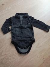 Černá jeanová košile/body zn. primark, vel. 80, primark,80