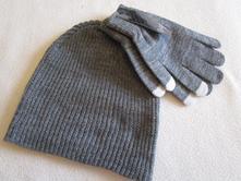 Zimní set - čepice + rukavice, 128
