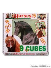 Kubus plastové kostky koně,