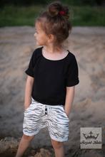 Černé dívčí tričko  krátký rukáv, 92 - 158