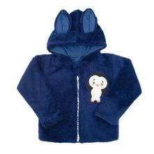 Zimní dětská mikina new baby penguin tmavě modrá, new baby,56 - 98