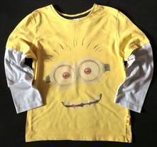 Vel. 122 žluté triko s mimoněm, 122