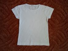 Bílé tričko triko krátký rukáv, pepco,116