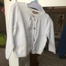 Bílý svetr na knoflicky, next,80