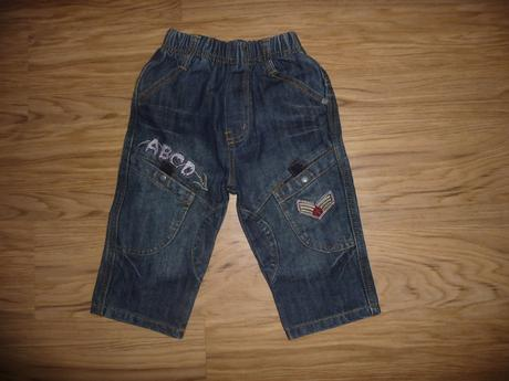 Džínové kalhoty small gang 9-12m vel.80, 80