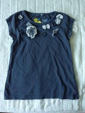 Tmavě modré tričko s květy , next,104