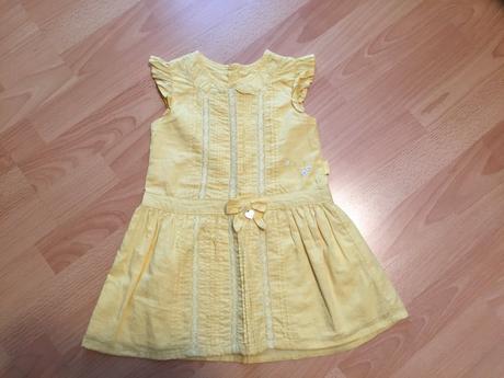 Letní žluté dívčí šaty, vel. 104., 104