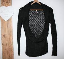 Černý elegantní svetr s.oliver, s.oliver,s