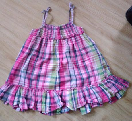 E212 - kostkované bavlněné šaty, next,104
