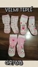 Ponožky teplé 62/68, 62