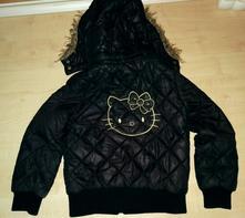Cerna prechodni bunda hello kitty vel 122, 122
