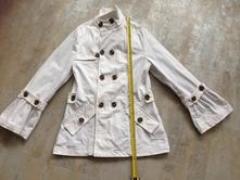 Bílý kabát volány zn.guess by marciano vel.36,38,s, guess,38