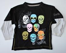 Černé tričko s dlouhým rukávem, rebel, 104, rebel,104