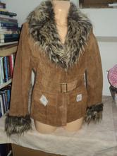Kabát sako broušená kůže vel 36 kožené, 36