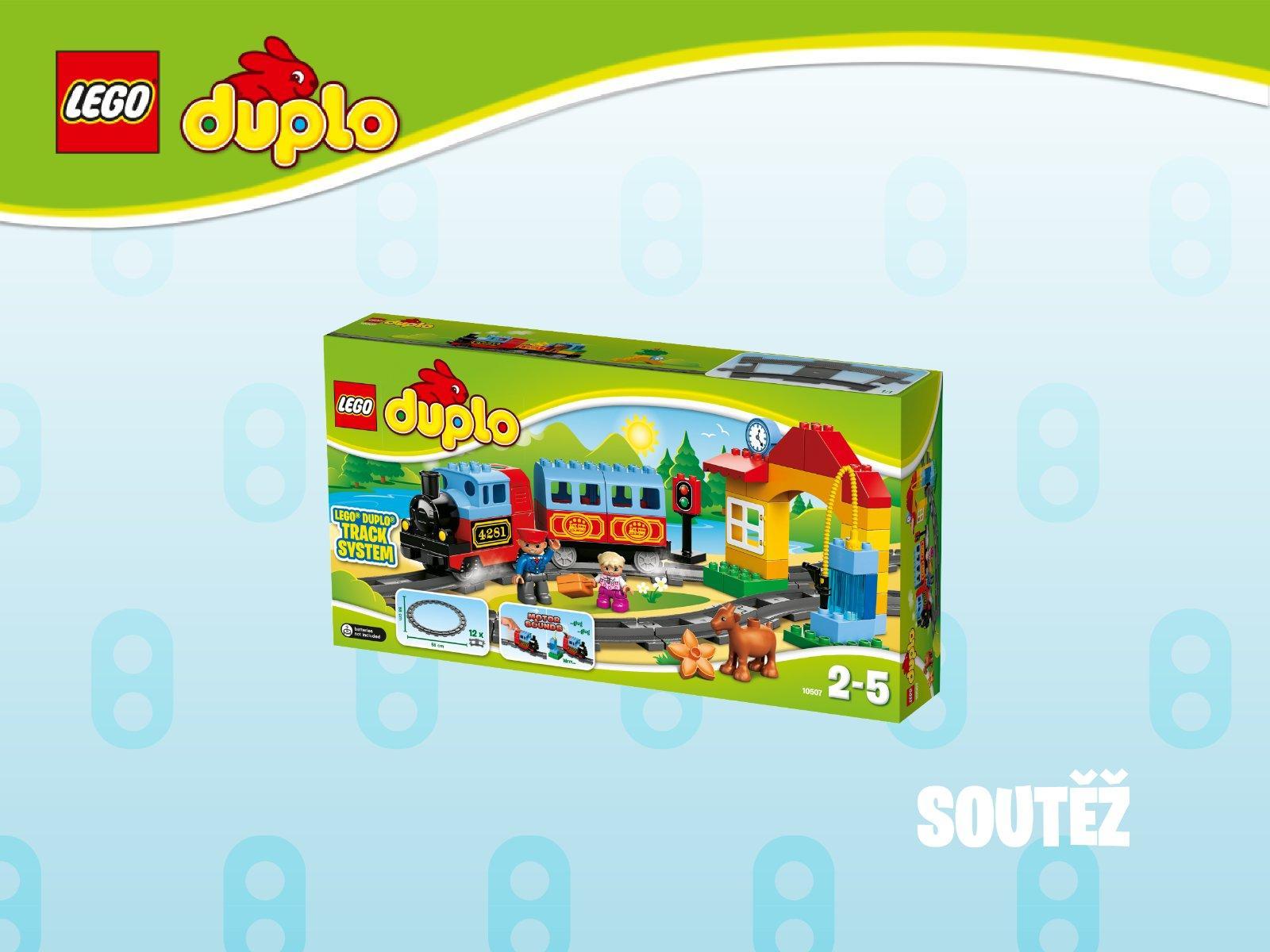 SOUTĚŽ o LEGO DUPLO Můj první vláček! 🙂 - Modrý koník 9bedf3ddae