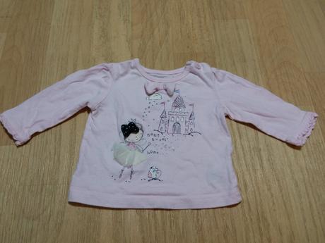 Tričko s dl. r. růžové s princeznou, early days,62