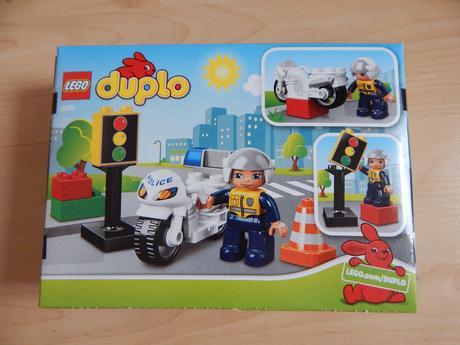 Lego duplo 5679 policejní motorka,