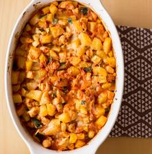 Zapečené brambory s ratatouille - výborné!
